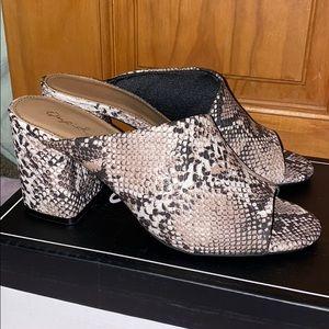 Brand new Snakeskin print shoes